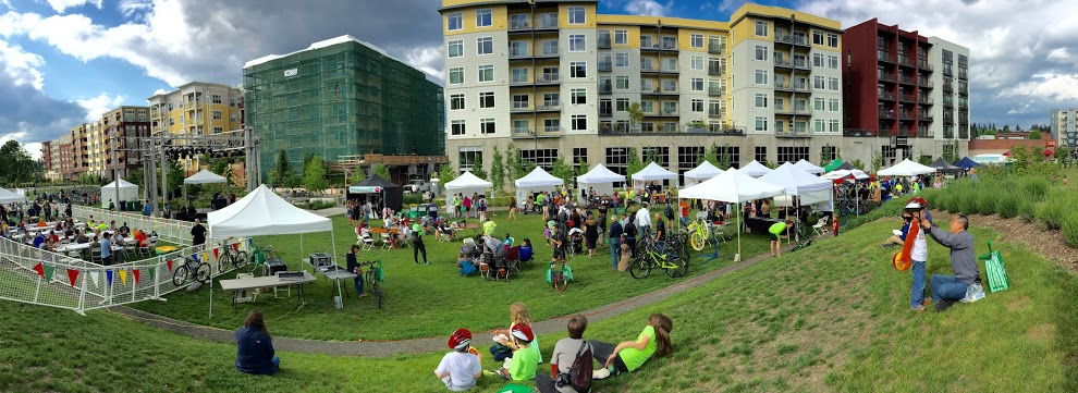 Bike Bash on Downtown Central Connector